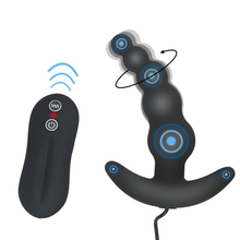 Vibrating Anal Plug Butt PlugWaterproof Black Color 10 Mode Silicone Toy Vibrator for women men anal sex toys products