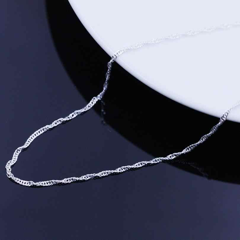 Necklace Female Necklace Models Wave Chain Of High-end Women's Jewelry Vintage Jewelry Accessories Silver Top 45CM Pendientes