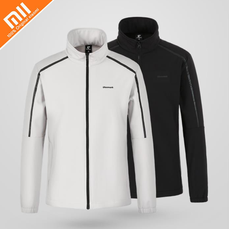 Original xiaomi mijia Uleemark fleece collar jacket Softshell design reflective strip design men s autumn jacket