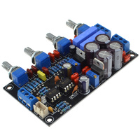 Luxury NE5532 Preamplifier Board AC15V 0 AC15V Volume Control Panel Amplifier Free Shipping 12003204