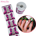 300pcs/lot Professional Butterfly Nail Form Tips Nail Art Guide Form Acrylic Tip Gel Extension Sticker Nail Polish Curl Form