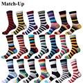 Матч-новая коллекция все хлопок мужчины Красочные Носки Брендовые мужские Носки, мужчины Носки в полоску хлопковые носки бесплатная доставка - фото