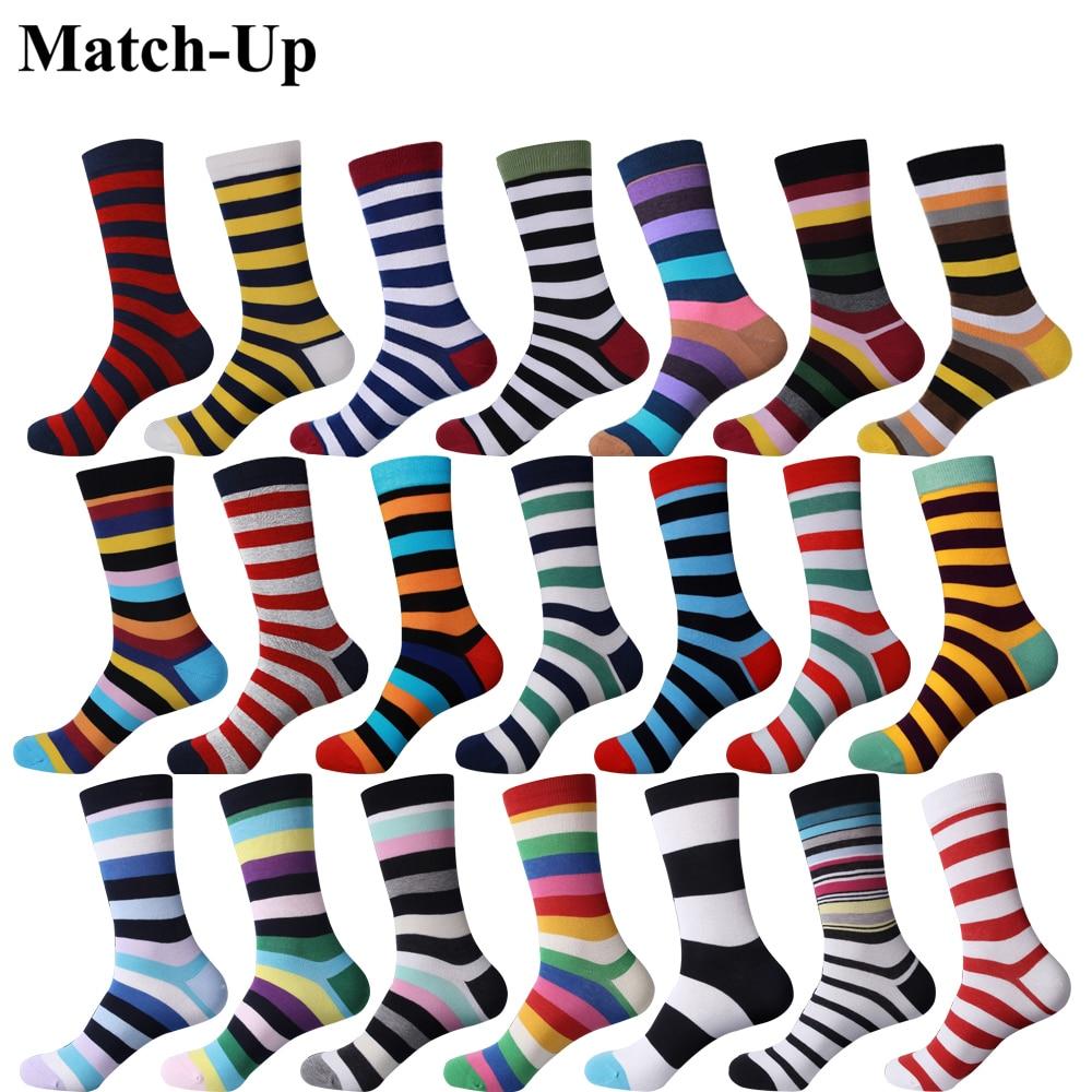 Match-Up new collection all cotton men colorful socks brand man socks , men socks stripe, cotton sock Free Shipping