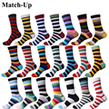Match-Up new collection all cotton men colorful socks brand man socks , men socks stripe, cotton sock Free Shipping