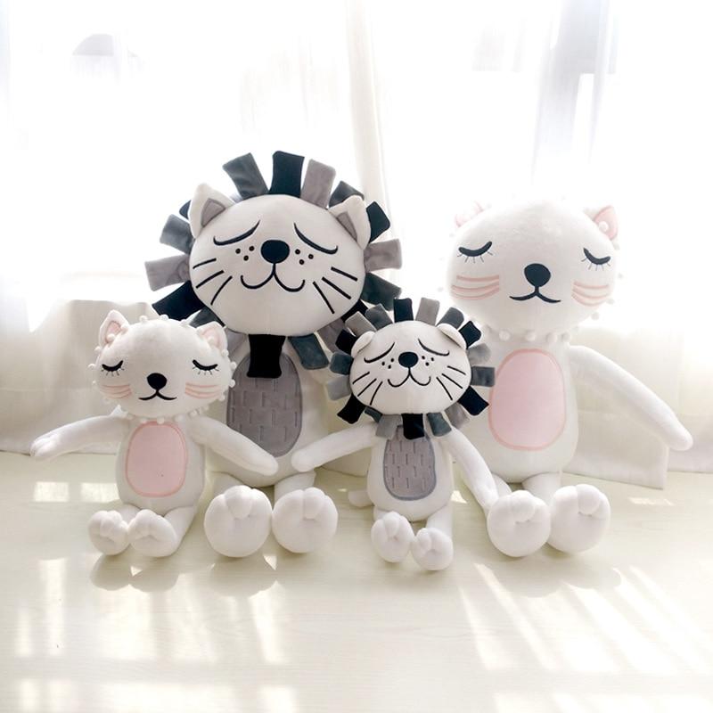 Cartoon Cute Cat Plush Dolls Toy Lion Pillow Plush Toys Soft Dolls Chirstmas Kid Gift Birthday Present High Quality Cushion