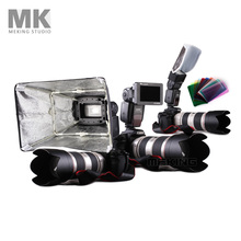 Flash Accessories Kit K3 collapsible softbox honey comb 10pcs color gels for speedlite speedlight camera flashes