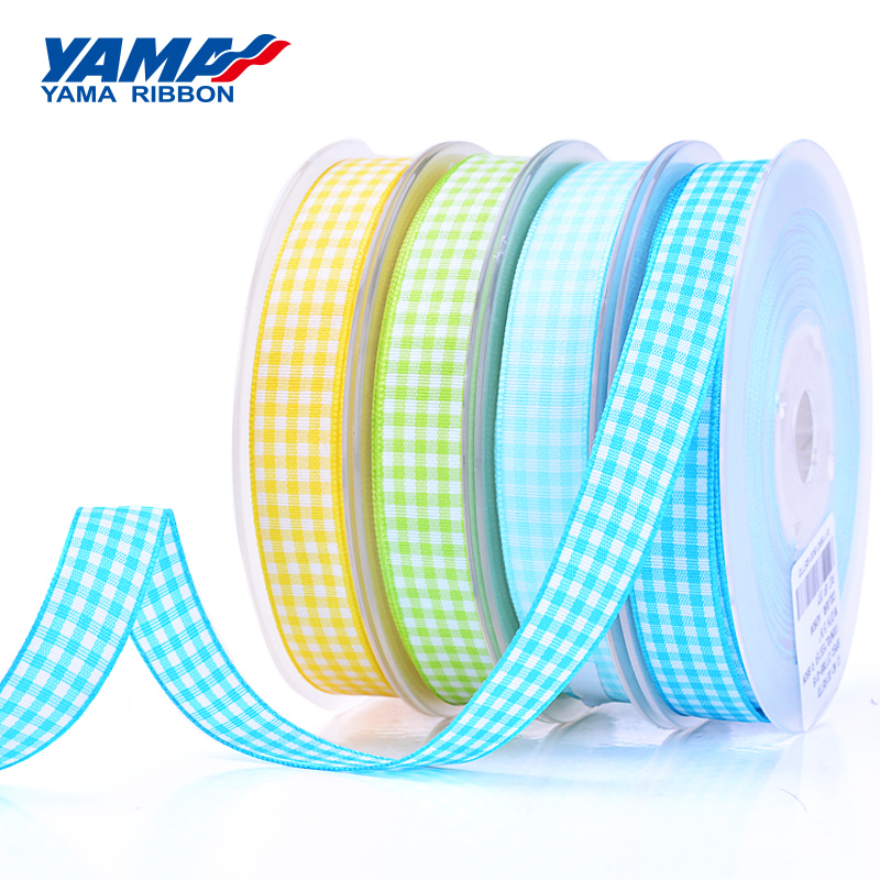 YAMA Polyester Scottish Tartan Plaid Ribbon 9mm 16mm 25mm 38mm 100 yards lot Gift Wrapping Wedding Sewing Crafts Packing Woven in Ribbons from Home Garden
