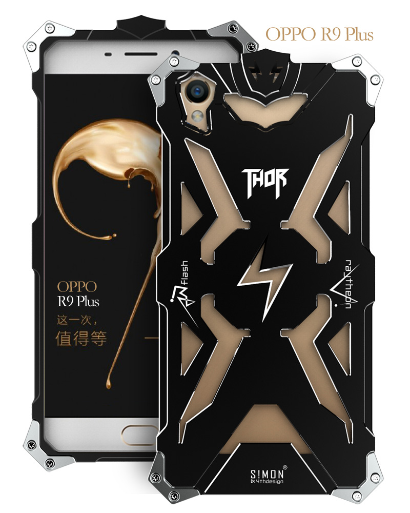 OPPO R9 R9 plus Original Design Armor Heavy Dust Metal Aluminum THOR IRONMAN protect phone shell