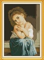 기쁨 일요일 그림 스타일 청순하고 순수 수제 공예 바느질 크로스 스티치 자수 키트 크로스 스티치 장식 도매