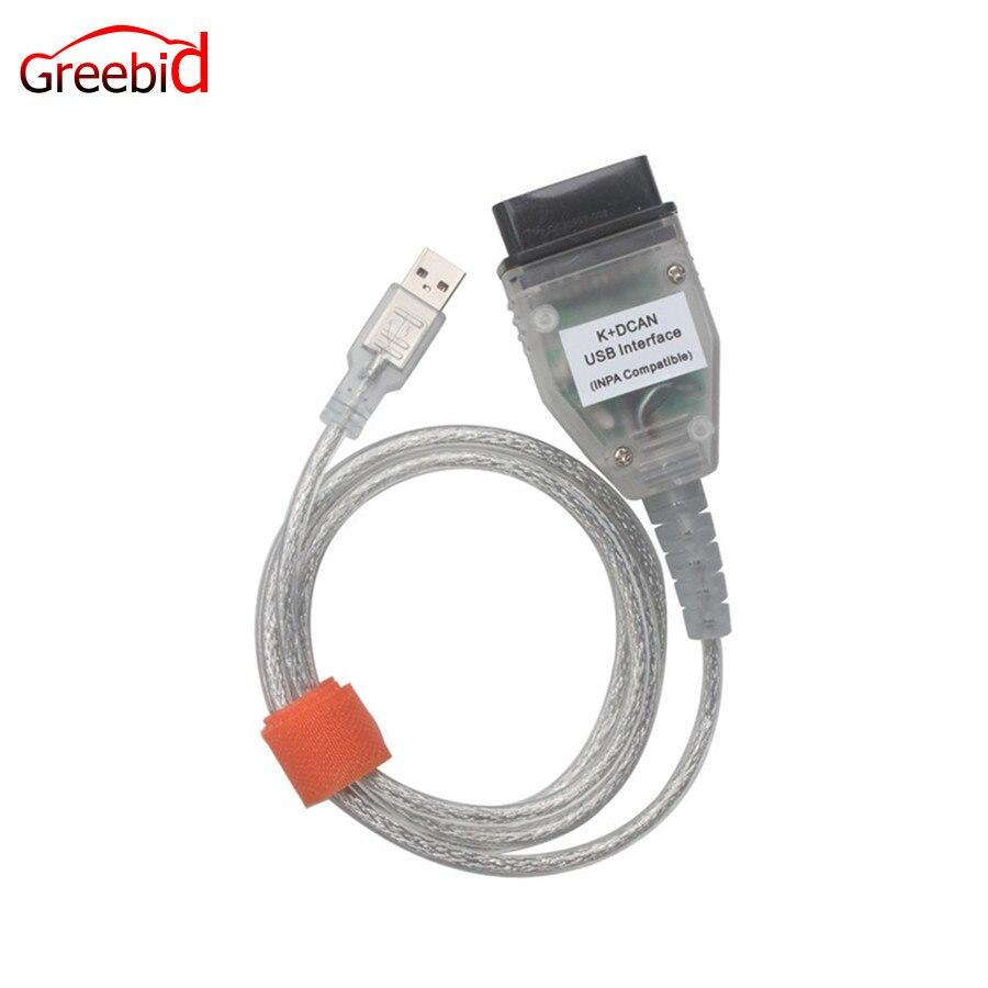Best Prezzo per BMW INPA K + CAN K PUÒ INPA Con FT232RL Chip INPA K DCAN Interfaccia USB Completo diagnostica Per BMW 1998-2008