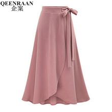 2017 Plus Size M-6XL Long Skirt Saia Womens High Waist Irregular maxi Skirt Female Casual Fashion Spring Autumn Skirts Faldas