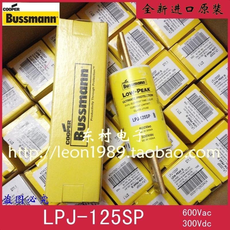 [SA]United States BUSSMANN fuse LOW-PEAK fuse LPJ-125SP 125A 600V 300V [zob] the united states bussmann lpj 150p buss fuse 600v genuine original