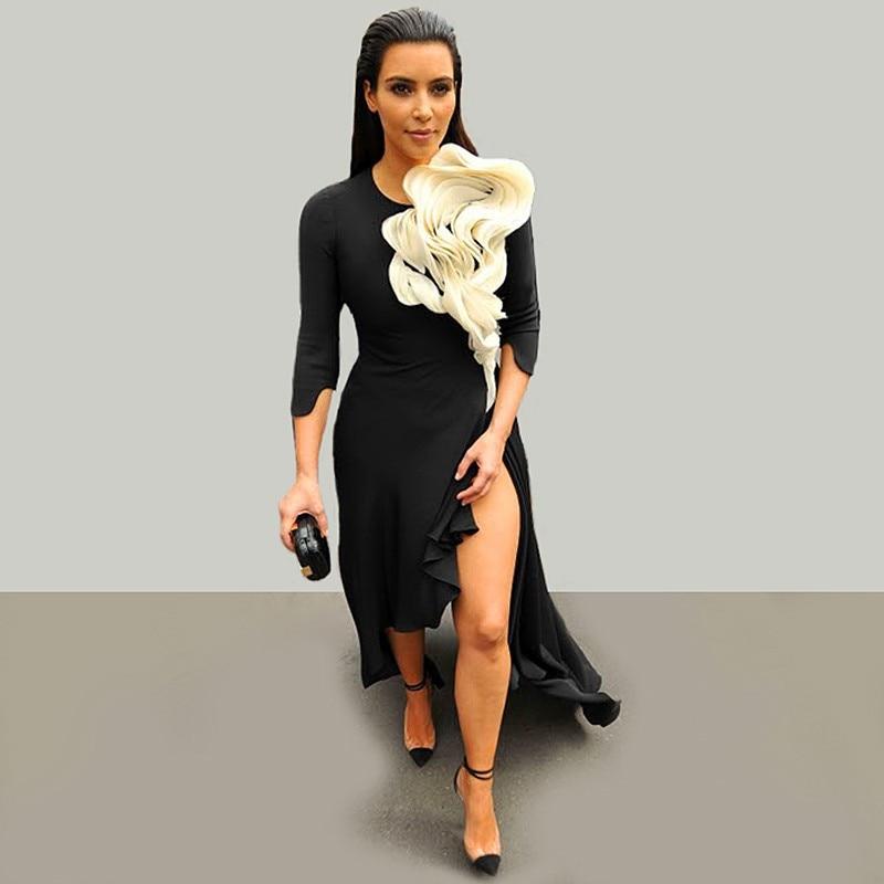 2016 new mode upper class Bas Kim kardashian sexy black ...