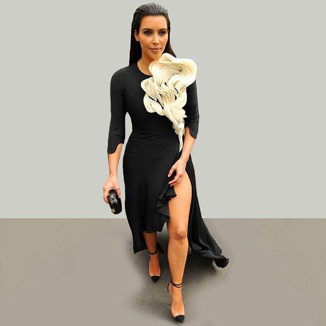 890994db68 2016 new mode upper-class Bas Kim kardashian sexy black robes De party -  his wife Formelle robe De KJ695 party De Noche robes
