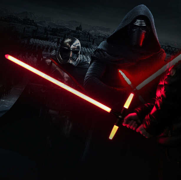 NEW 105cm Star Wars 7 The Force Awakens Kylo Ren LED sound lightsaber scalable Cosplay Darth