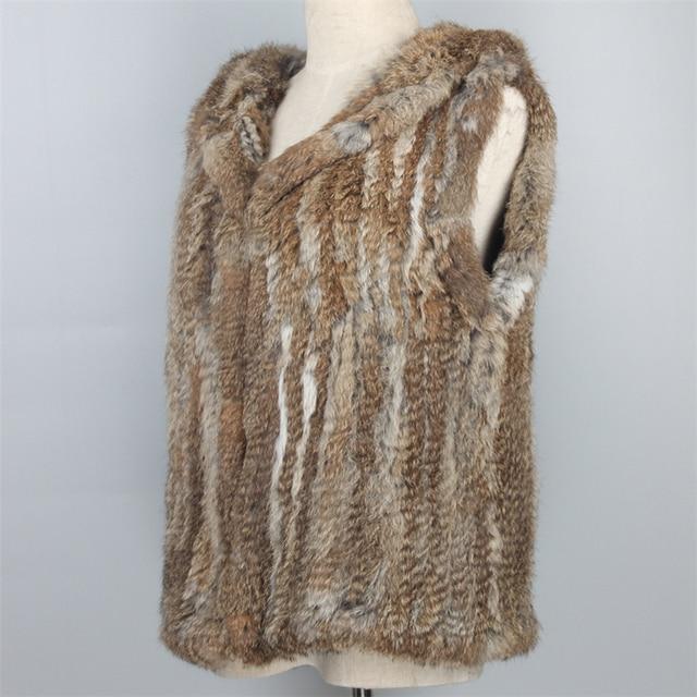c41025475292b colete feminino colete de pele chaleco pelo Con Capucha Chaleco de Piel de  Conejo Nuevo Invierno ...
