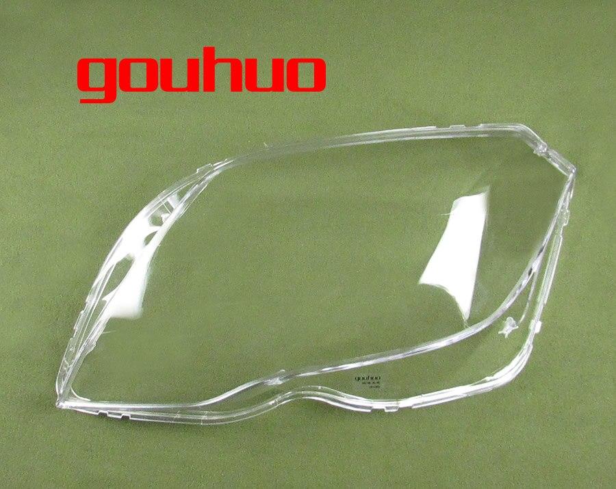 For 13 15 Mercedes Benz Glk200 Glk260 Glk300 Lampshade Headlmp Shell Headlight Transparent Mask Cover Lens 2pcs