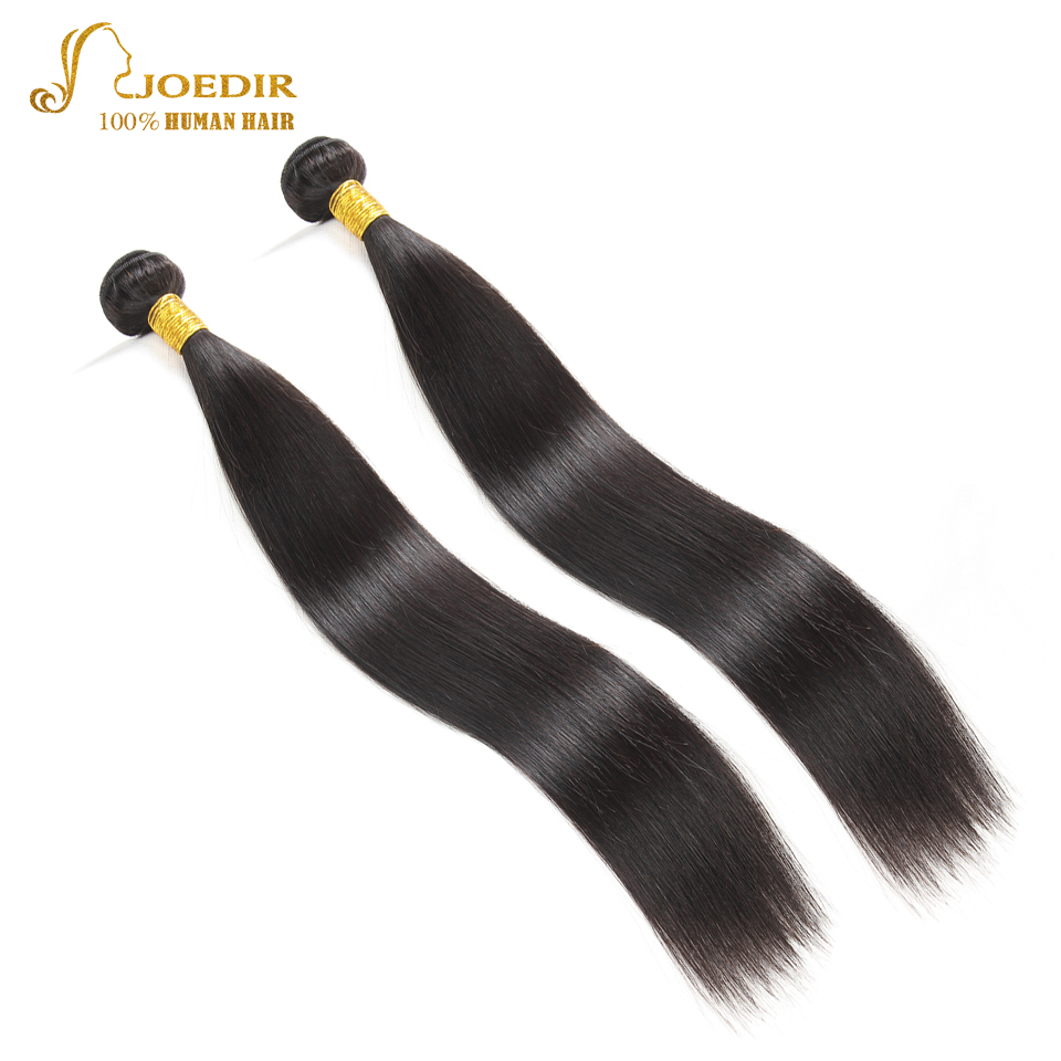 Joedir Natural Black Malaysian Hair Extension 2 Bundles Deal Straight Human Hair Weave 2 Pcs/lot Straight Mink Hair Bundles
