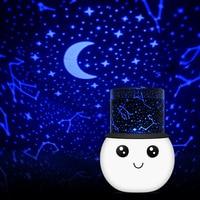Romantyczny Pokój Nowością Noc Światło Kolorowe Lampa Projektora Miga Starry Gwiazda Księżyc Niebo Projektor Abajur Żartuje Dzieci Infantil