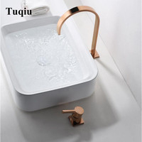 Basin Faucet Brass Rose gold Bathroom Faucet Sink Mixer Tap Vanity Hot Cold Water Bathroom Faucets New Arrival