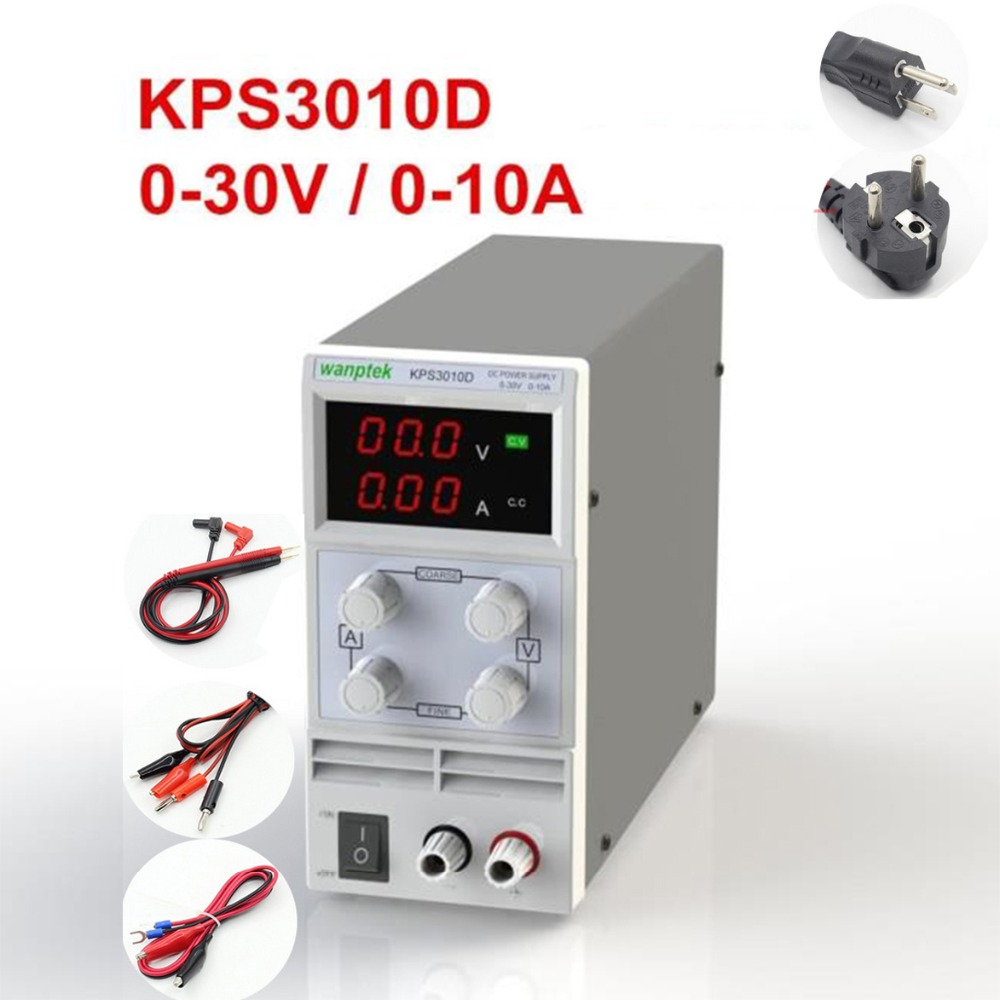 KPS3010D KPS305D KPS6050D Switchable Adjustable High precision double LED display switch DC Power Supply protection function kps305d adjustable precision double led display switch dc power supply protection function 0 30v 0 5a 110v 230v