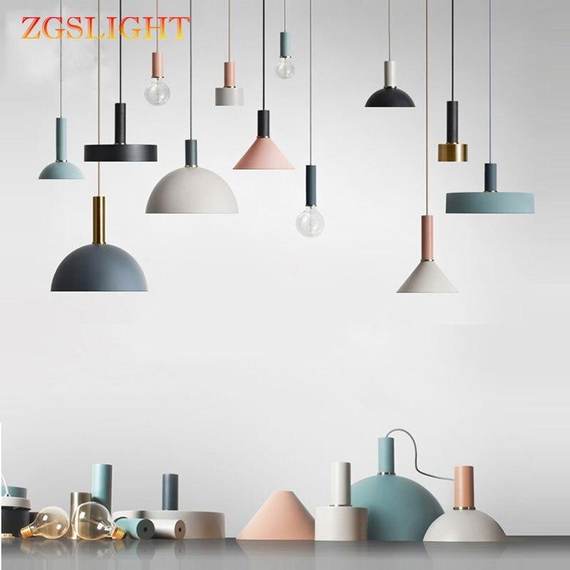 Modern Creative Nordic Loft Simple Pendant Lights E27 LED Hanging Lamp Design DIY For Bedroom Living Room Kitchen Restaurant