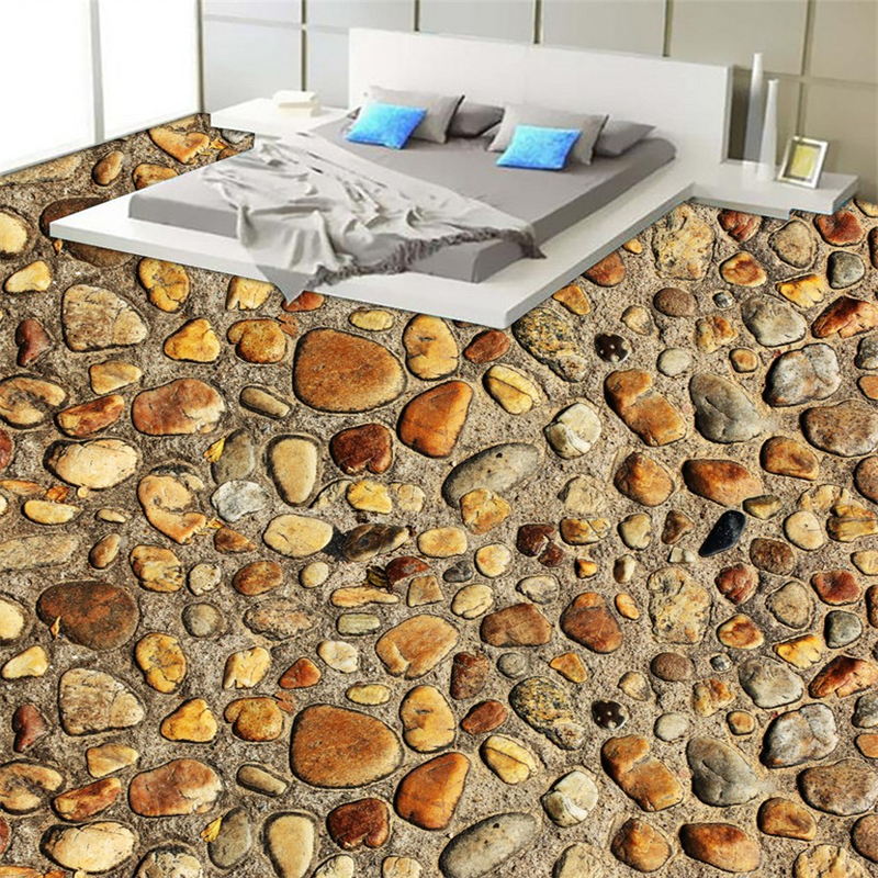 beibehang Aromatic stone bathroom bath room bedroom 3d flooring painting HD waterproof self - adhesive wallpaper stickers wall sweet 3 4 sleeves v neck fish print dress for women