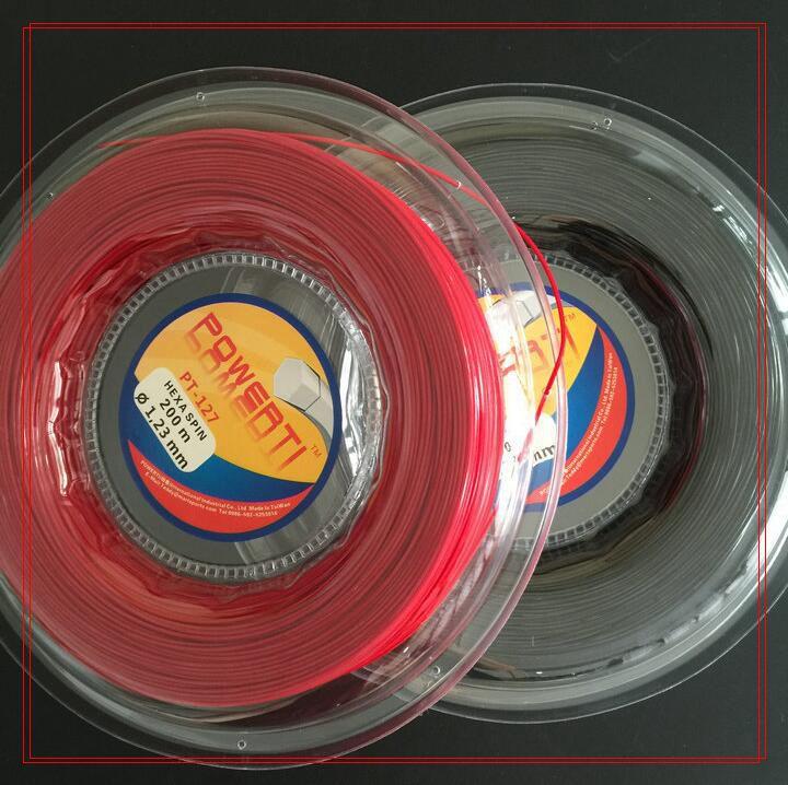 Genuine Powerti Taiwan HEXA SPIN 200m Hexagonal Spinning Polyester Tennis String