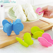 4Pcs Creative Butterfly Insulation Take-up Clamp Silicone Anti-scalding Oven Thicken Handguards Take The For Kitchen Tools