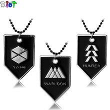PS4 Game Destiny Fate Necklace HUNTER WARLOCK TITAN Letter Logo Alloy Pendant Men Jewelry Fans Gift Charms Souvenir Dropshipping
