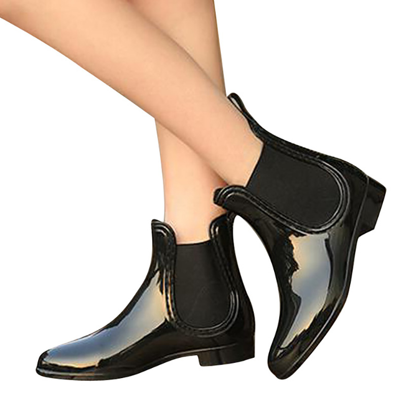 Feng-Nong-Spring-winter-boots-brand-design-ankle-boots-rain-boots-elastic-band-shoes-woman-solid (1)