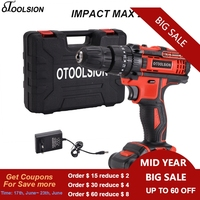 21V Impact Electric Drill Cordless Screwdriver Electric Screwdriver Rechargeable Cordless Drill Battery Screwdriver Wood Work