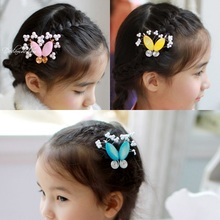 Little Girl s Cute Sweet Side Hair Pins BB Pins Hair Accessories Imported Korean Hanbok Costume