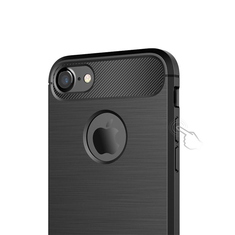 Luksusowe wstrząsoodporny telefon case for iphone 7 7 plus 6 6 s plus 5 5S se case new carbon fiber miękka tpu rysunek phone case back cover 8