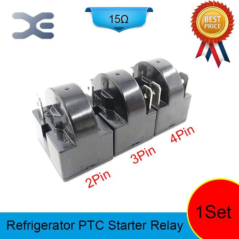 3PCS 2PIN 3PIN 4PIN 15OHM Starter Parts PTC Starter Relay Refrigerator Spare Parts Display Refrigerator Repairing Refrigerators 3pin terminals refrigerator 220v 12 ohm one pin refrigerator compressor ptc starter relay 1 pcs refrigerator parts