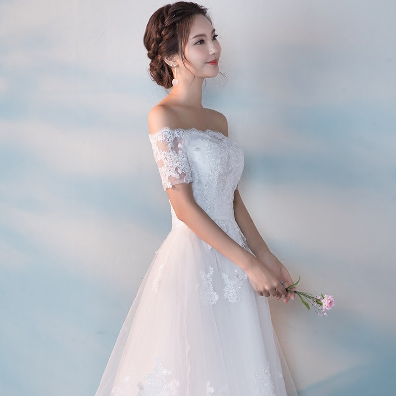 It s YiiY New Simple Lace Bridesmaid Dresses Fashion Boat Neck A line Party  Frocks YG012-in Bridesmaid Dresses from Weddings   Events on Aliexpress.com  ... ecc86913fd2f