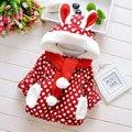 2015 зимой ребенка зимние-мягкие одежды рождество верхней одежды парки для новорожденных девочки одежда верхняя одежда пальто