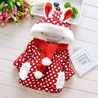 2015 winter baby cotton padded clothes Christmas outwear jacket parkas for newborn infant baby girls clothing outerwear coats