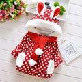 2015 roupas de inverno de algodão acolchoado outwear parkas para recém-nascido do bebê meninas outerwear casacos