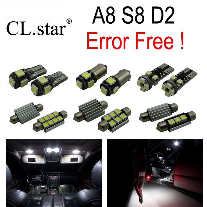 31pc x canbus Error Free LED Bulb Interior Light Kit Package for Audi A8 S8 D2 Quattro (1997-2002) 16pc x canbus error free led bulb interior light kit package for audi a3 s3 8p 2006 2013