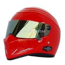 Карден долгий срок службы аккумулятора автомобильный стерео Bluetooth шлем мотоциклетный шлем Стеклопластик шлем ATV-4 ярко-красный