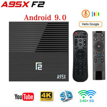 Android tv box A95XF2 Amlogic S905X2 4GB 64GB 4K Smart Box 2.4G & 5G double WIFI Bluetooth 4.2 USB3.0 lecteur multimédia Google Play Store(China)