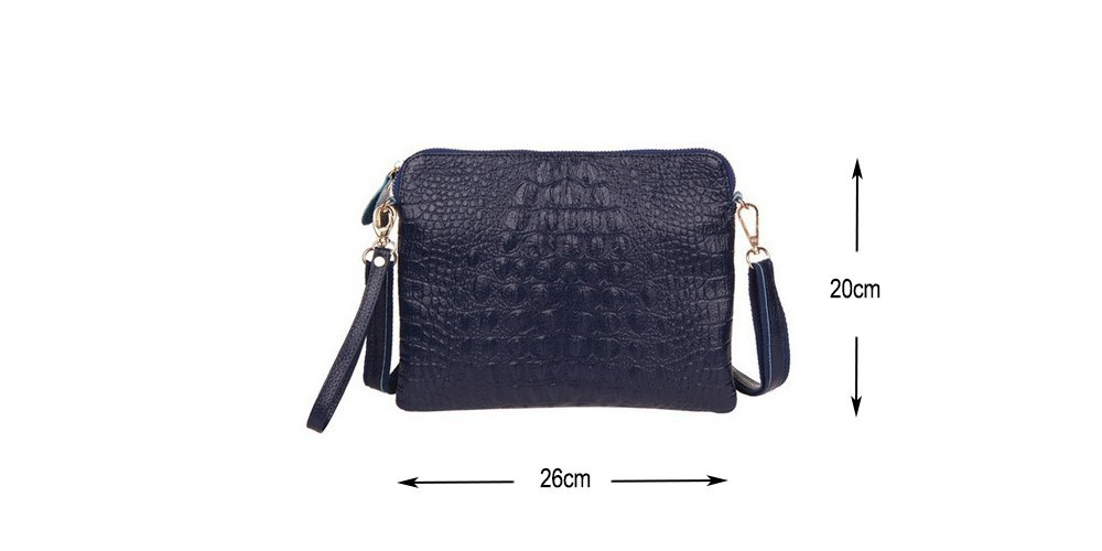 Crocodile Genuine Leather Bag Fashion Elegant Women Handbag Shoulder Bag Messenger Bag Day Clutch 2014 Designer Bolsas Femininas 1