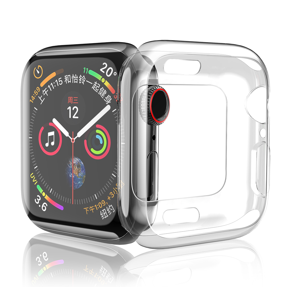 Permalink to Watches Accessories For Apple Watch Series 4 Case iWatch 44mm 40mm TPU Clear Ultra-thin Silicone Watch Cover