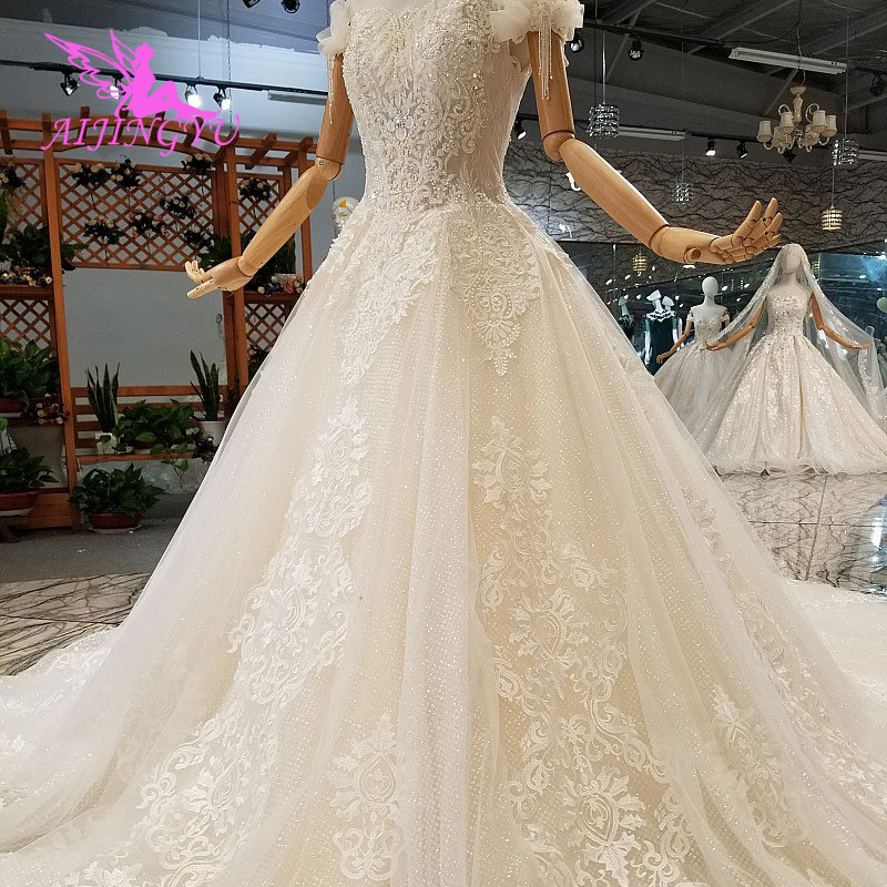 AIJINGYU White Ball Luxury Buy Folk Custom Made Simple Gown And Gowns Lace Wedding Dresses For Sale