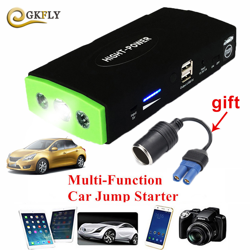 High Power Car Jump Starter Power Bank 600A Portable Car Battery Booster Charger Starting Device Petrol Diesel Starting Device multifunction jump starter 89800mah 12v 4usb 600a portable car battery booster charger booster power bank starting device