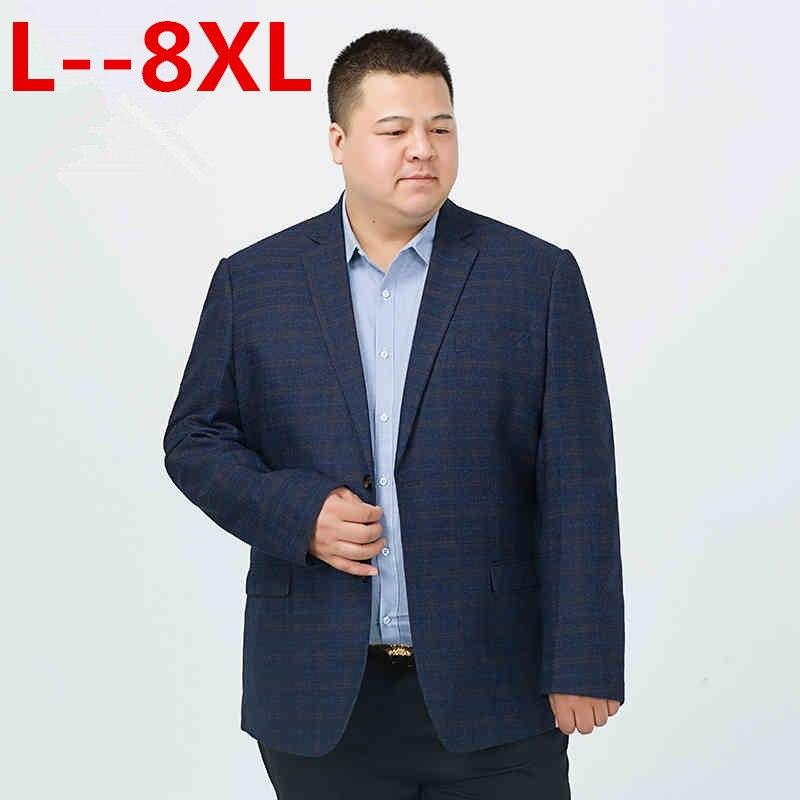 Big 10XL 8XL 6XL 5XL 4XL hommes coréen lâche fit mode coton blazer costume veste grande taille hommes blazers hommes manteau costumes décontractés-in Vestes from Vêtements homme    1