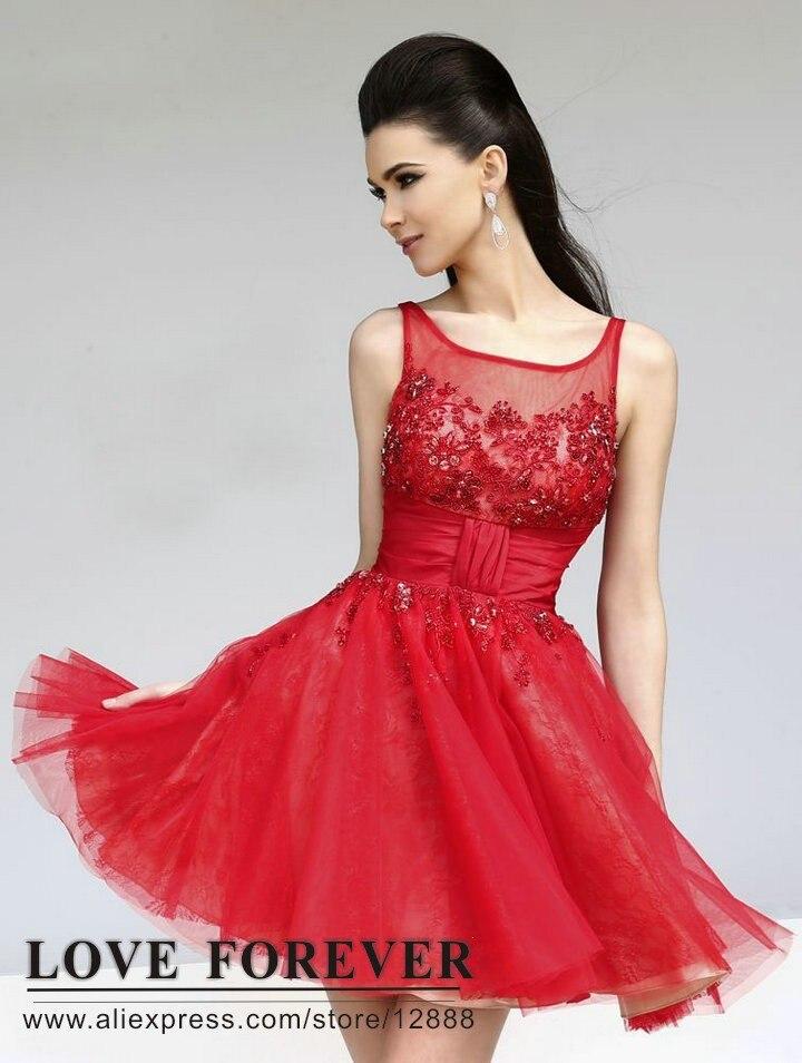 Black red dress lace