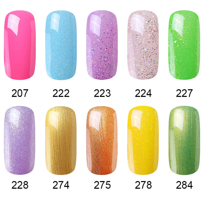 HNM חדש עירום אור צבע 8ML UV ג 'ל לק למעלה בסיס חצי קבוע היברידי לכה Stamping אמייל ציור gellak