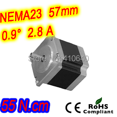 цена на 6 pieces per lot high resolution step motor 23HM16-2804S L 41 mm Nema23 with 0.9 deg 2.8 A 55 N.cm and bipolar 4 lead wires